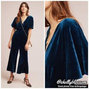 NWT Luna Velvet Jumpsuit by Greylin Sapphire